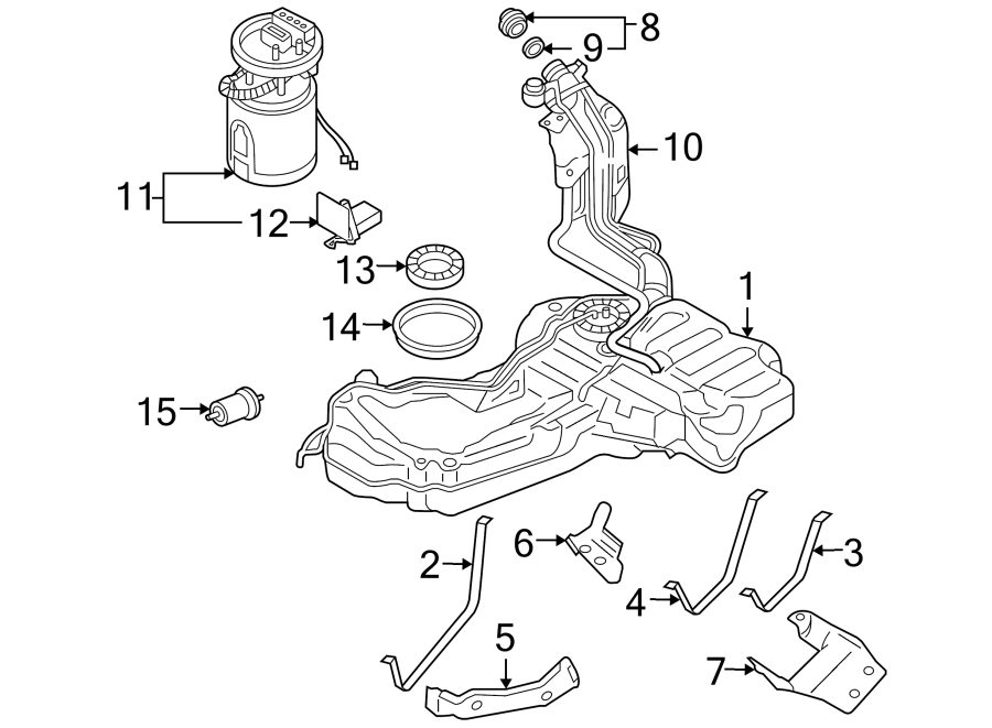 Diagram FUEL SYSTEM COMPONENTS. for your 2008 Audi S4
